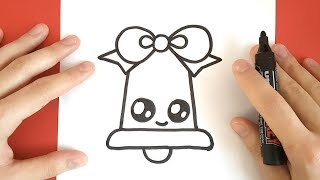 HOW TO DRAW A CHRISTMAS BELL CUTE AND EASY