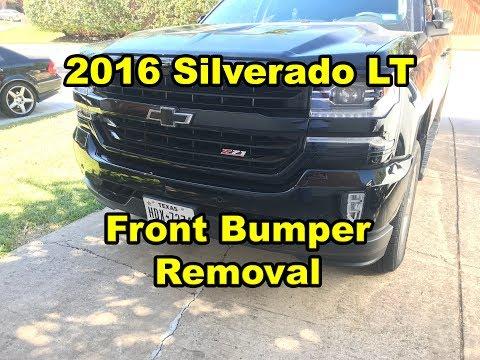 2016 Silverado Front Bumper Removal