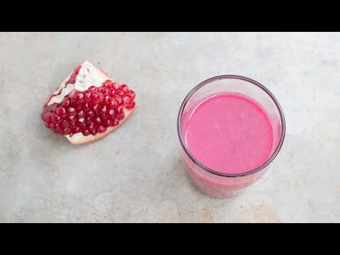 How to make Pomegranate Juice | Easiest way to juice Pomegranate