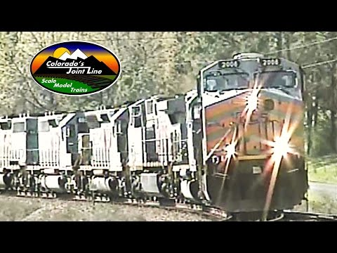 Kansas City Southern Trains over Rich Mountain 2002 Part #1