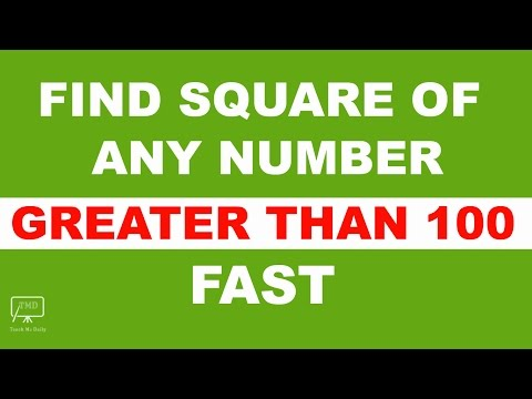 Square Trick: Square of Any Number Greater than 100 for Bank , SSC Exams - in Hindi