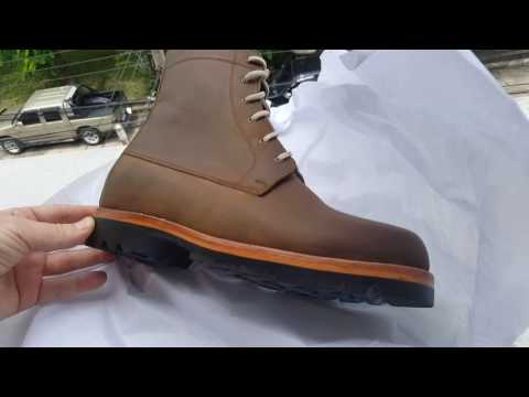 Catapiller Boots in oil brown