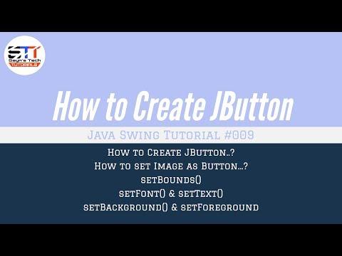 JButton Bounds, Text, Image, Color, Font | Java Swing Tutorial #009