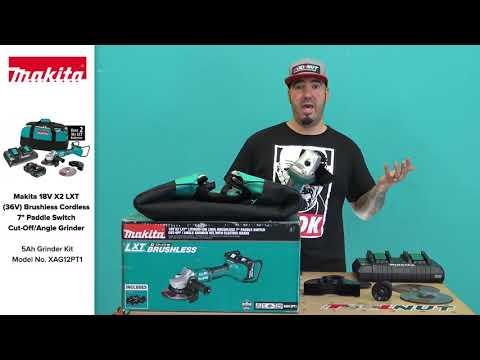 Makita 18V X2 LXT (36V) Brushless Cordless 7 Inch Paddle Switch Grinder XAG12PT1