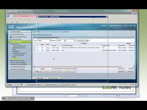 LabMinutes# SEC0088 - Cisco ACS 5.4 Shell Privilege and Command Authorization