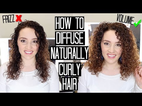 How to Diffuse Curly Hair without Frizz & Add Volume