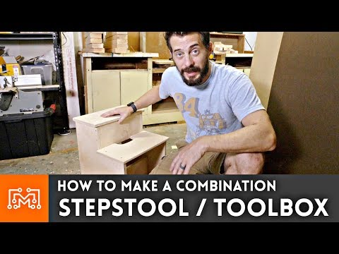 How to make a step stool tool box // Woodworking