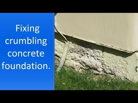 How to repair crumbling concrete near foundation.