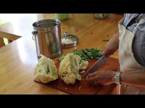 How to wash and chop cauliflower
