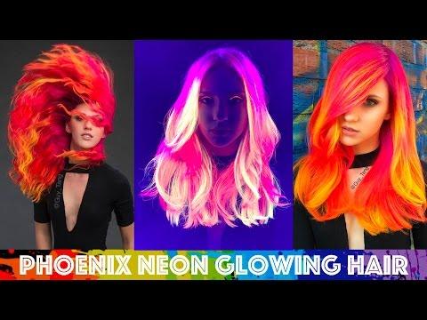 Phoenix Neon Glowing Hair