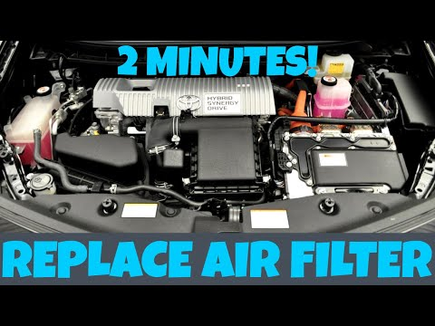 HOW TO REPLACE TOYOTA PRIUS ENGINE AIR FILTER IN 2 MINUTES (2010-2015)