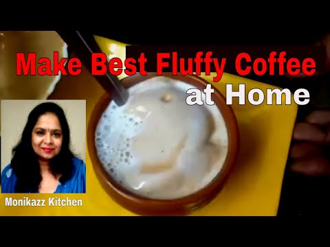 How to make Perfect Coffee at home / Homemade Beaten Coffee Recipe without machine -monikazz kitchen
