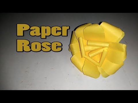 How to make a Paper Rose || Paper Rose || Paper Cutting Art || Paper Rose Easy || Paper Crafts