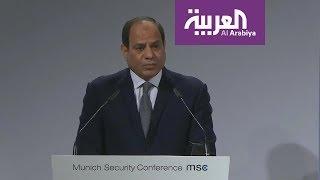السيسي يدعو للتعاون مع أفريقيا في مجال الأمن