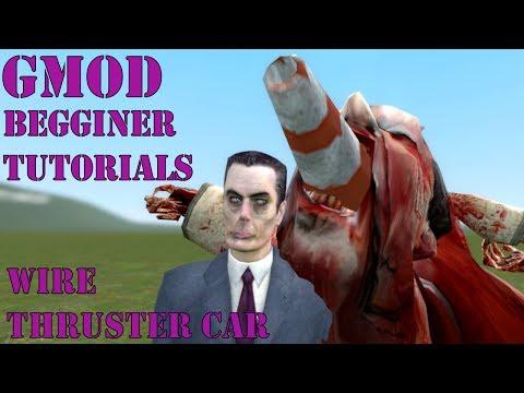 Gmod begginer tutorials: Simple boosted thruster car