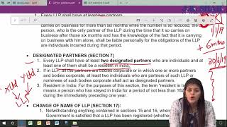 CA Foundation Nov'19 - Law LLP Act Additions & RTP Lecture by J. K. Shah Classes