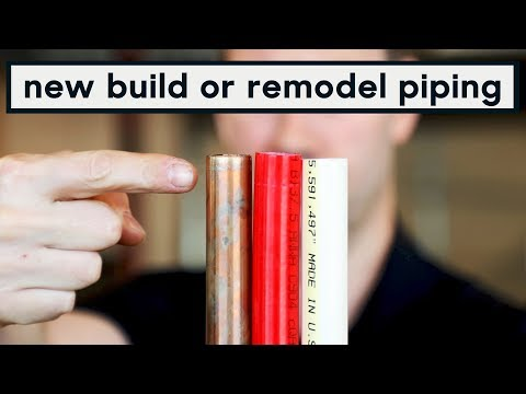 PEX vs COPPER vs CPVC plumbing pipes