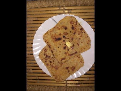 Square Indian flat bread - multi Layer paratha -warqi paratha - chakor parotha
