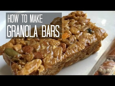 How to Make Chewy Granola Bars