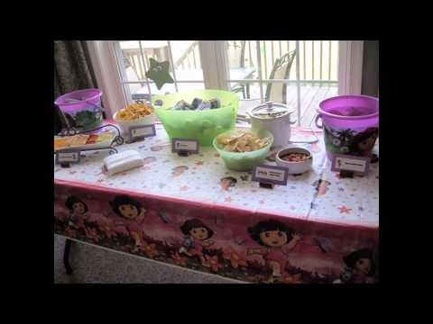 Easy Dora birthday party decoration