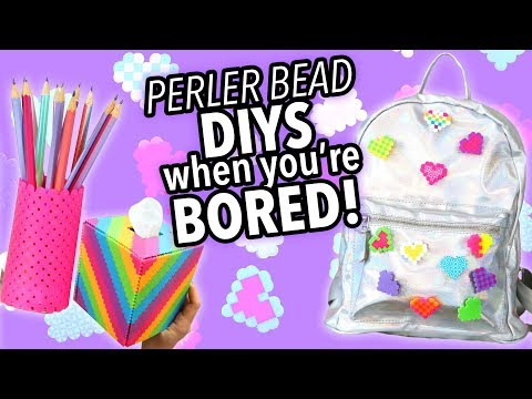 PERLER BEAD DIYS TO DO WHEN YOU'RE BORED  | @karenkavett