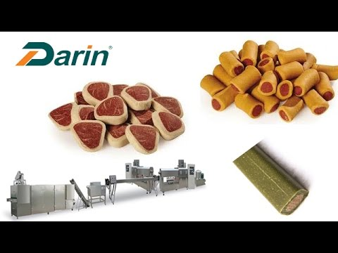 Pet Treats Extruding Line/Dog Chewing/jam Center Pet Chewing Food Making Machine