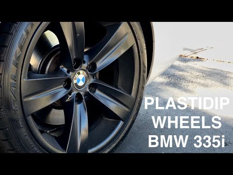 PLASTI DIP Your BMW Wheels THE RIGHT WAY! (extreme gloss finish)
