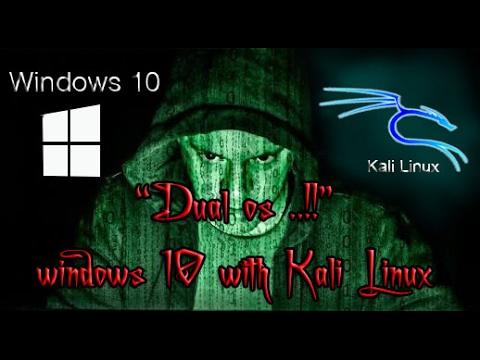 Cara Dual Boot WINDOWS 10 dan KALI LINUX 2016   STEP BY STEP   Bootable USB