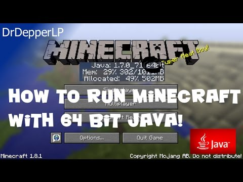 Run Minecraft in 64 bit Java