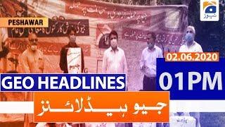 Geo Headlines 01 PM | 2nd June 2020