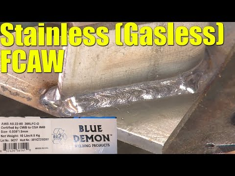 🔥 Stainless Steel FCAW without Gas (with Blue Demon 308LFC-O)