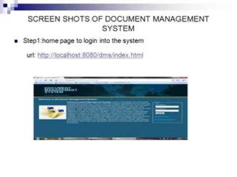 Online Document Management System Project in Java