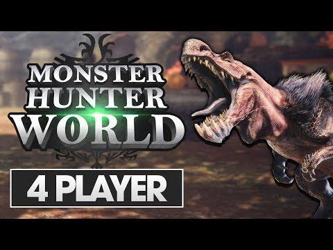Monster Hunter World | 4 Player Walkthrough Live