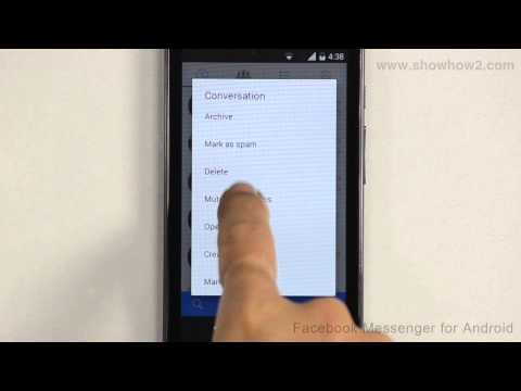 Facebook Messenger For Android - How To Mute Notifications For A Conversation
