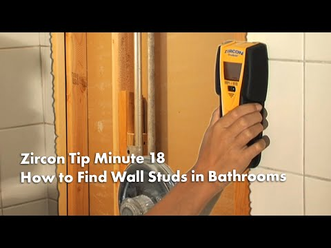 Tip Minute 18: How to Find Wall Studs in Bathrooms Using a Stud Finder