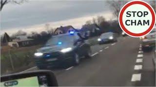 Policja i SOP spycha z drogi DK74 #366 Wasze Filmy