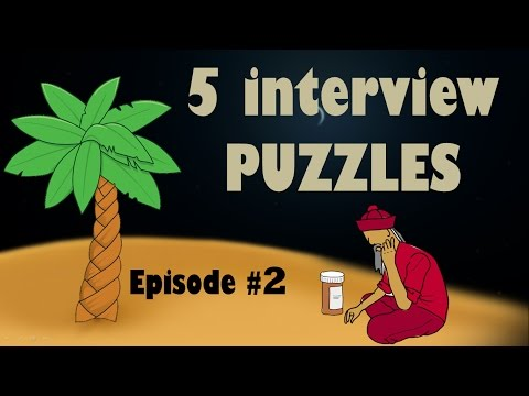 5 Interview PUZZLES || Episode #2 || Frequently asked Job Interview PUZZLES