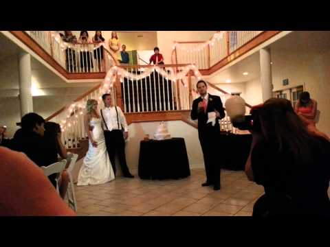 Best Man and Maid of Honor speech with a twist.