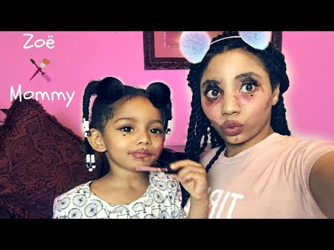 How To Put On Makeup Like A 3 Year Old (Toddler Does Mommy's Makeup Challenge)