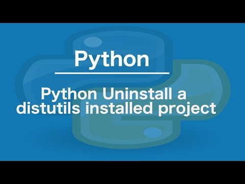 Python Uninstall a distutils installed project