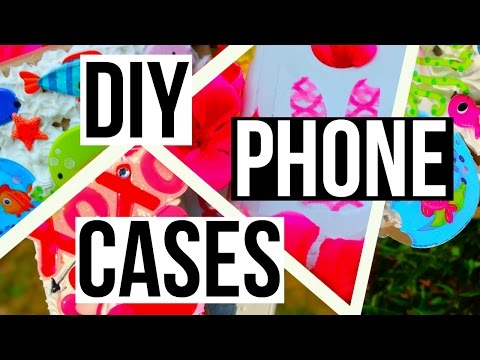 DIY Phone Cases! Decoden + Washi Tape Stickers