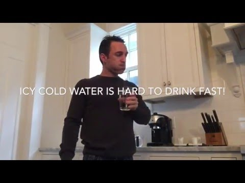 How to Drink Cold Water FAST