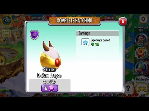 Draluxe Dragon Egg Hatching from 5 Golden Orbs | Dragon City Gameplay Level 92