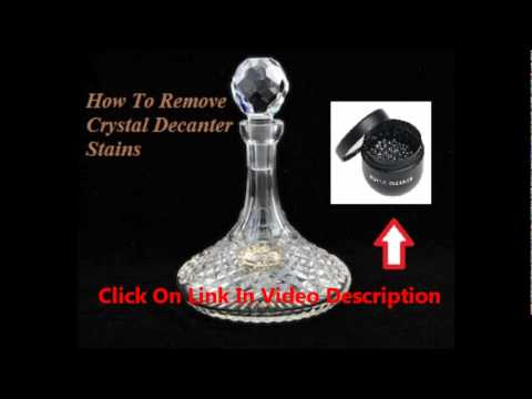 Crystal Decanter Stains