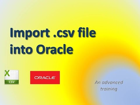 CSV file import into Oracle