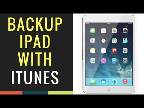 Sync and backup your iPad with iTunes