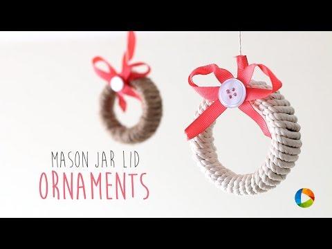 DIY : Mason Jar Lid Ornaments