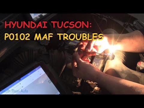 Hyundai Tucson - P0102 Mass Air Flow (MAF) Circuit Low