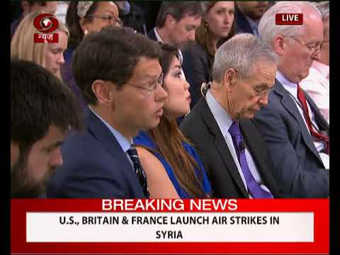 US, Britain & France launch air strikes in Syria