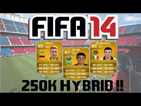 FIFA 14 Ultimate Team | 250k Hybrid Squad Builder ft. Thiago Silva, Reus and Di Natale!